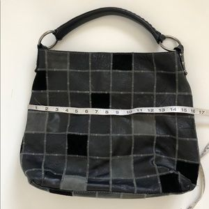 Lucky Brand Bags - Lucky Brand Black Leather Handbag Purse Patchwork